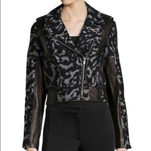 Diane Von Furstenberg leather cheetah print jacket